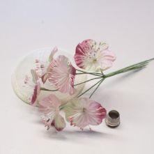 Vintage Mauve/Pink Satin Blossoms x6